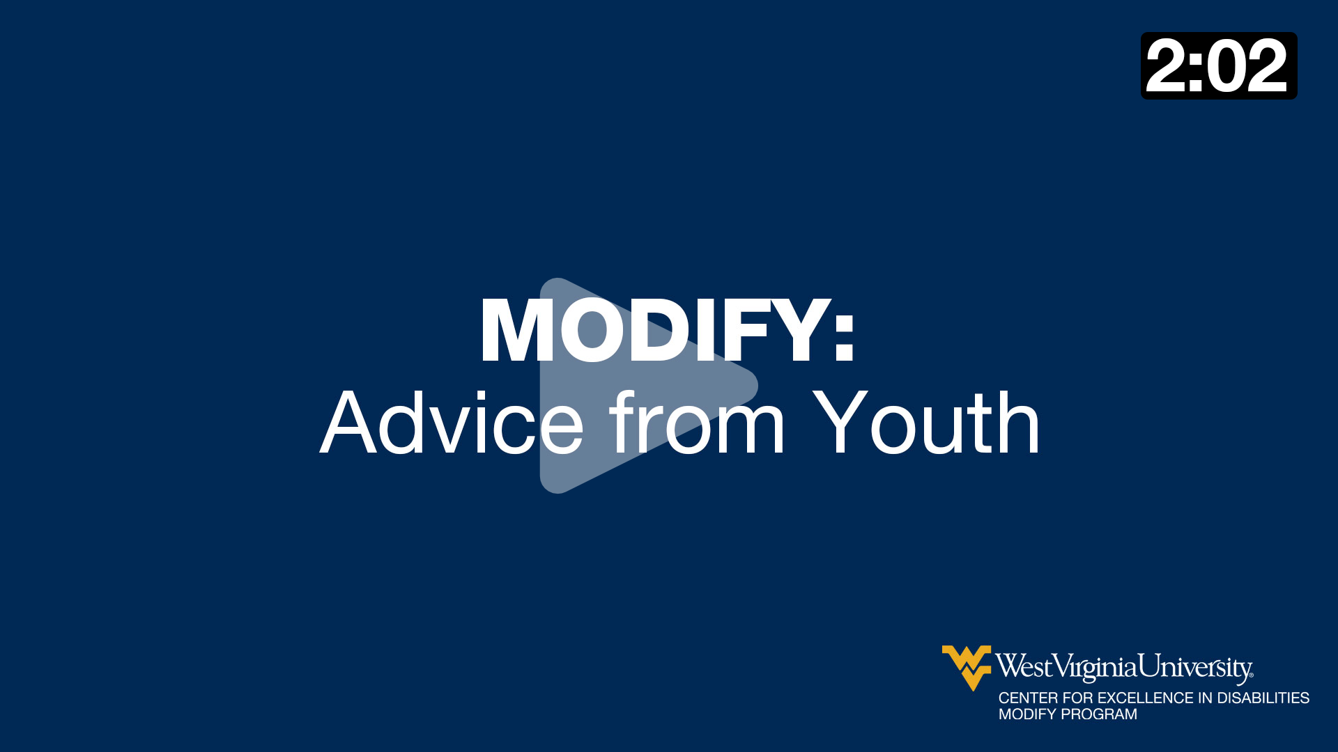 MODIFY: Advice from Youth