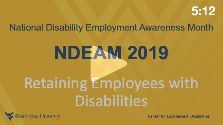 NDEAM Retaining Employees with Disabilities