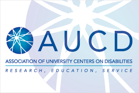AUCD Logo: Association of University Centers on Disabilities: Research, Education, Service